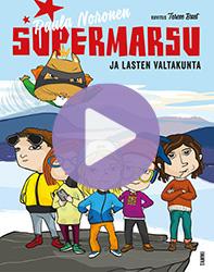 Supermarsu ja lasten valtakunta -kirjan kansikuva