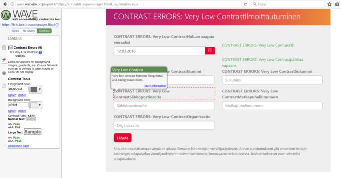ruutukaappaus kontrastiongelmasta. Linkki sivustolle.